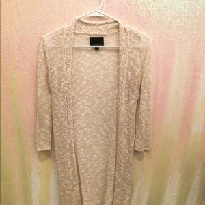 Cynthia Rowley cream cardigan